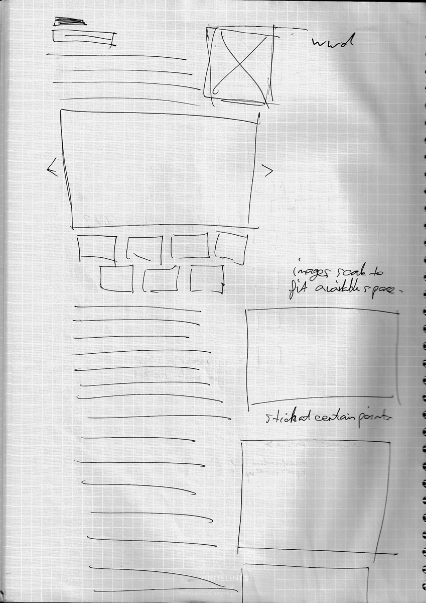 An early sketch of sticking media items in place